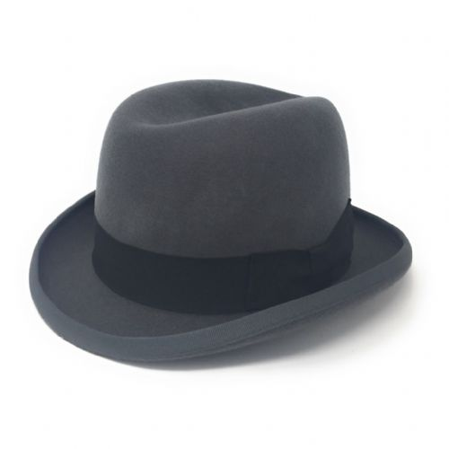 Homburg Hat - Wool - Dark Grey
